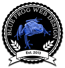 Graphic Design, Logo Design, Blue Frog Web Design