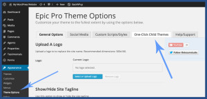 one click child themes