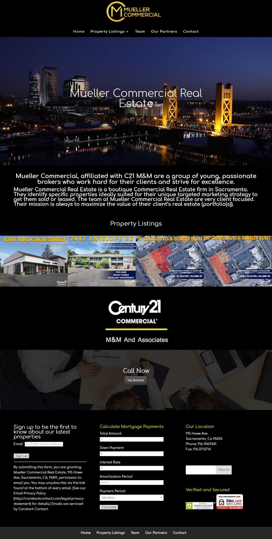 Mueller Commercial Real Estate - Website by Blue Frog Web Design