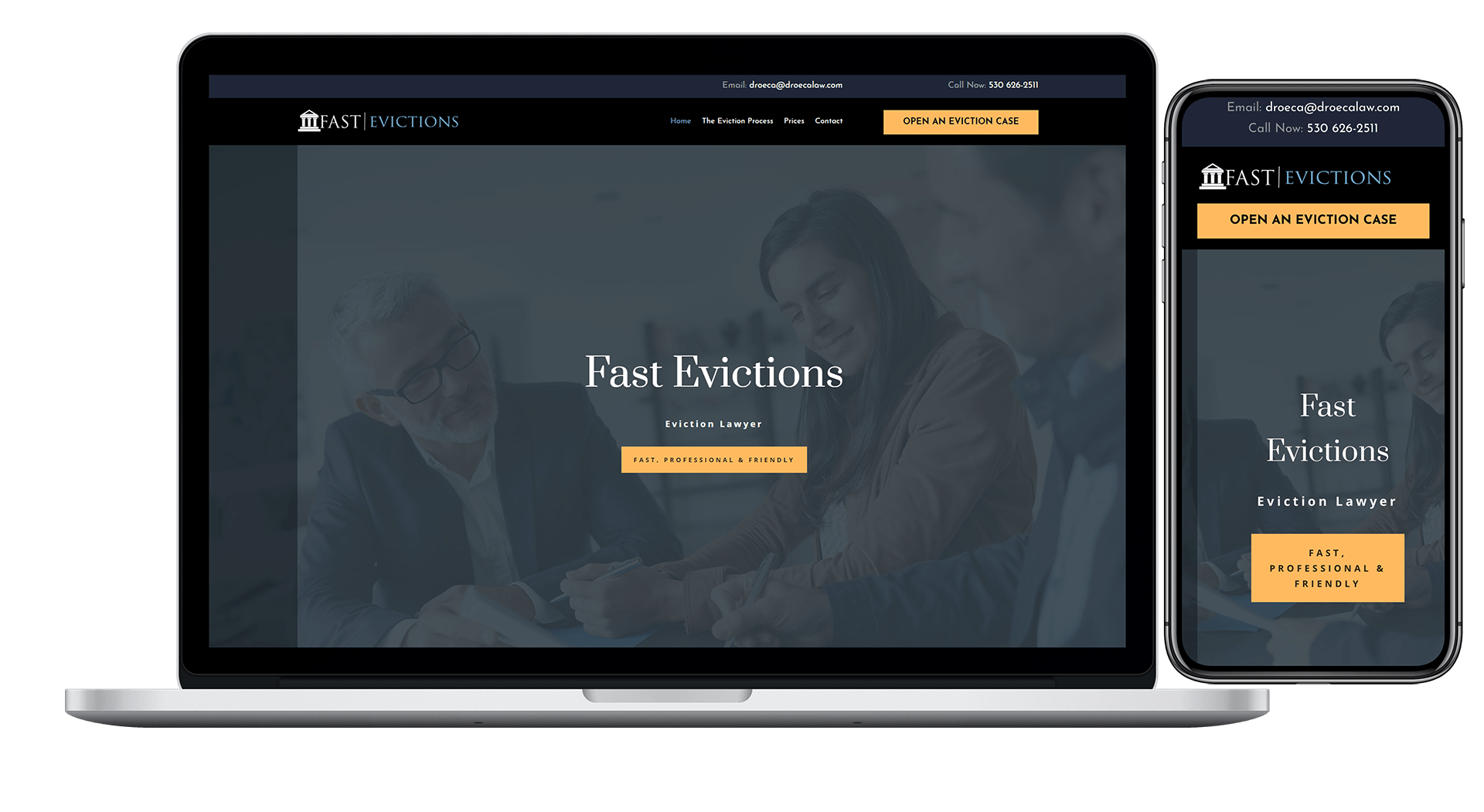 Fast Evictions - Are you an Attorney that needs a new or redesigned website? Hire the best Lawyer Website Designer today, Blue Frog Web Design